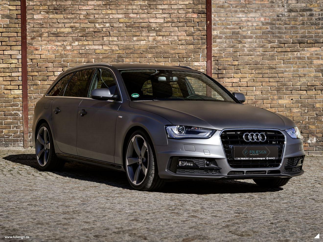 Vollfolierung Audi A4 Avant B8 Facelift 3m Matte Dark