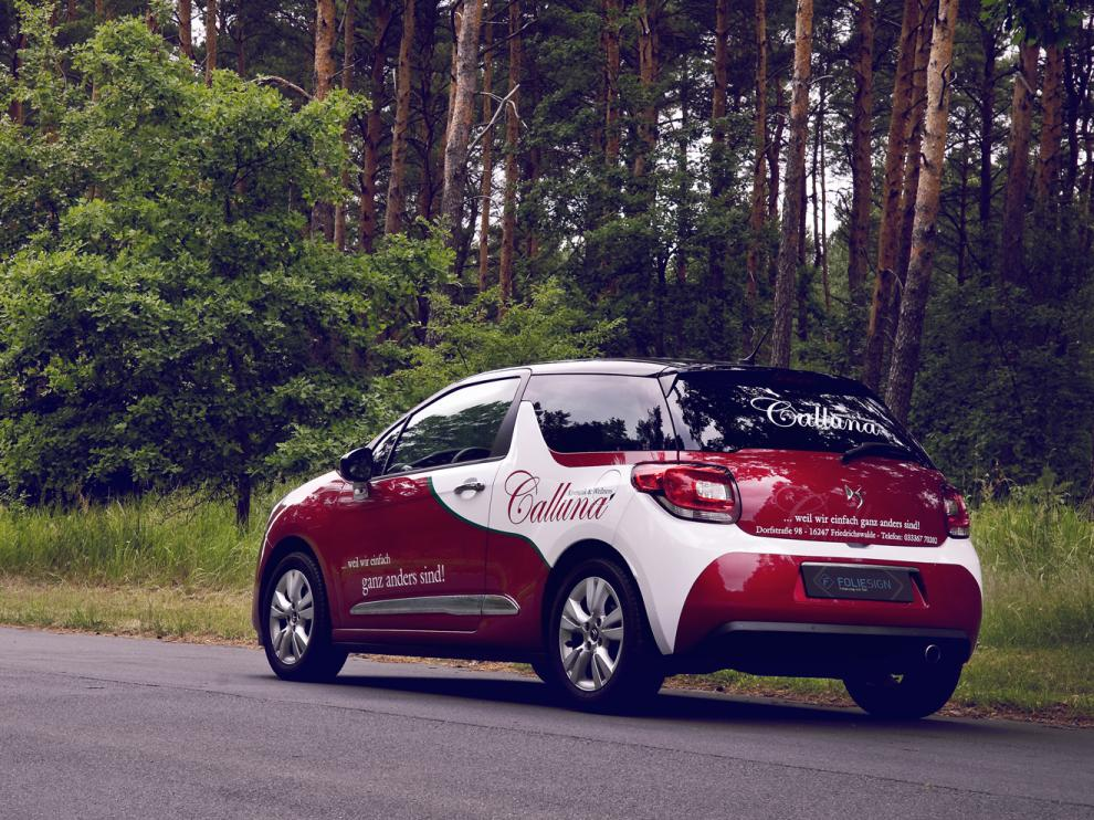 Calluna Kosmetik & Wellness // Folierung Citroen DS3
